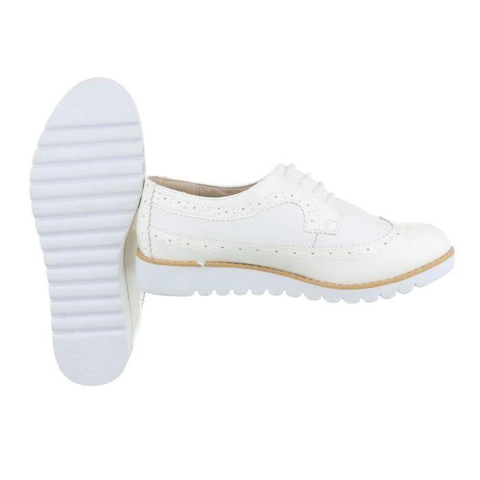 Femme chaussures flâneurs lacer blanc 41