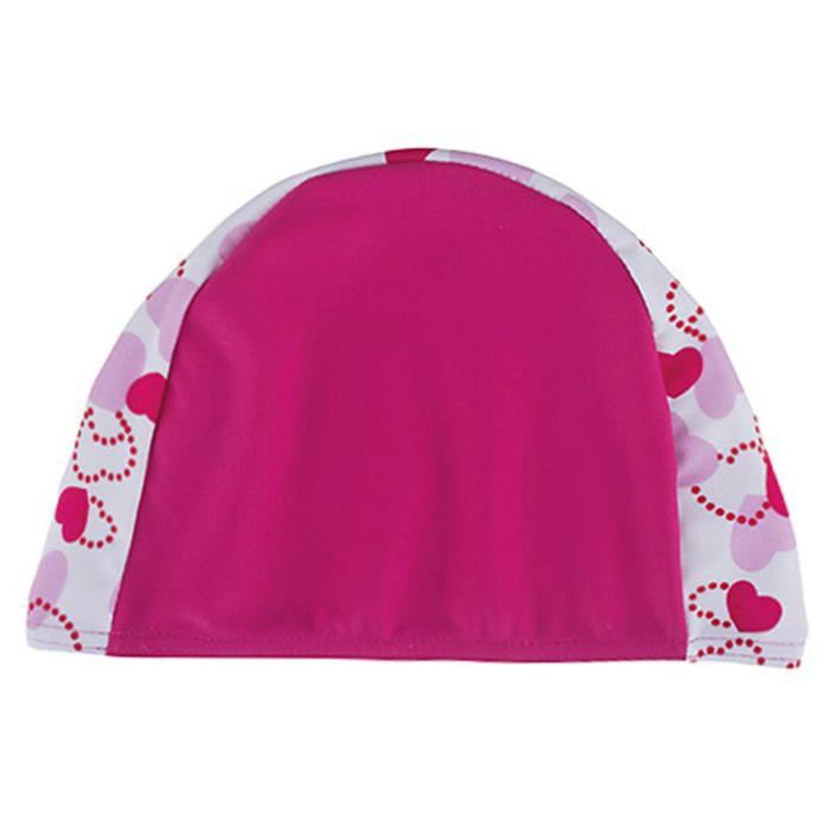 c90b2df773f5 Bonnet de bain enfant rose avec coeur en tissu ,U Rose - Prix pas ...
