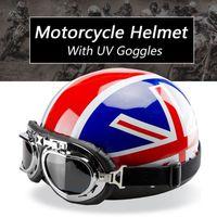 CASQUE MOTO SCOOTER NEUFU Style Drapeau Britannique Casque de Moto Vél