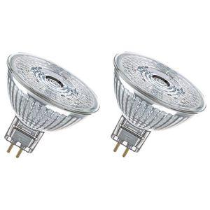 OSRAM Lot de 2 Ampoules spot LED MR16 GU5,3 5 W équivalent ? 35 W blanc froid dimmable
