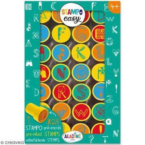 TAMPON DÉCORATIF Kit de tampons enfant pré-encrés Stampo Easy - Alp