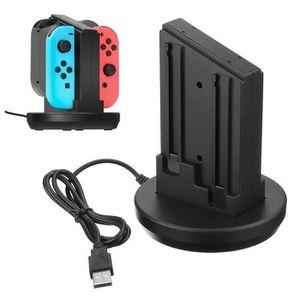 DOCK DE CHARGE MANETTE 4 En 1 Station chargeur de manette pour Nintendo S