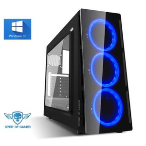 UNITÉ CENTRALE  Ordinateur Pc Gamer Deathmatch Blue AMD A6 9500 -