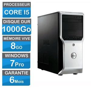ORDI BUREAU RECONDITIONNÉ Dell Precision T1500 Core i5 680-3,60Ghz- HDD 1000
