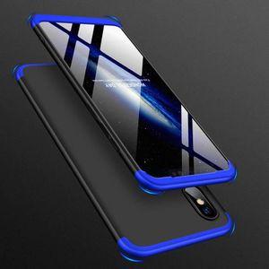 COQUE - BUMPER Coque Xiaomi Mi 8,Bleu noir 360 Degré 3 en 1 Dur P