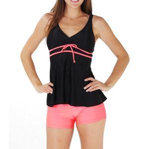 SANSelle Triangle Bikini, maillot de bain avec des bandes - Femme - Rose, 38/40(Bonnets A/B-C)
