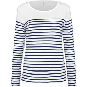 9517da2d9c3b4 T shirt femme raye bleu et blanc manches longues - Achat / Vente pas ...