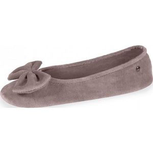 CHAUSSON - PANTOUFLE CHAUSSON FEMME 95811 GRAND NŒUD TAUPE