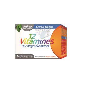 TONUS - VITALITÉ 12 vitamines + 7 oligo elements 2 x 12 comprimés