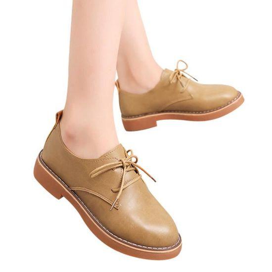 Bottes Plat Pour Cheville Femme Cuir En Benjanies Chaussures Mode Casual marron Dames Court f8FIxI
