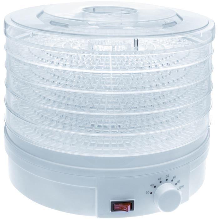 Déshydrateur aliments 69123 5 plateaux D : 32 cm 2245W - électrique - blanc