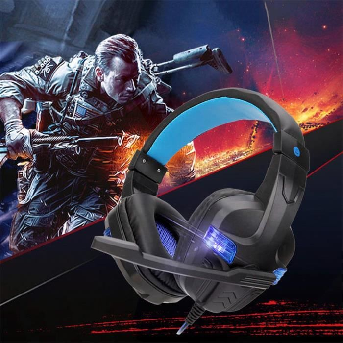 Filaire Usb Led 3,5 Mm Gaming Headset Casque Avec Micro Pour Pc Portable Phone_dw55