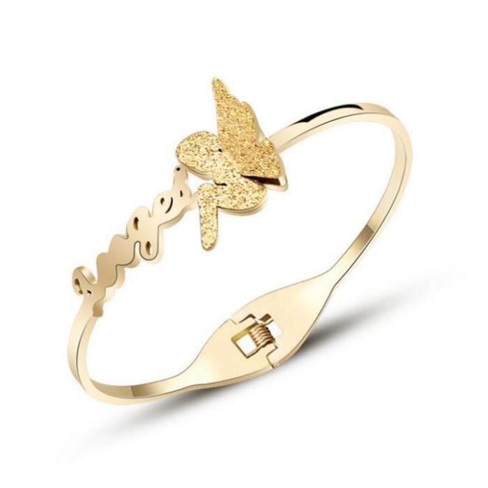 Bracelet marque de luxe modèles féminins ange Bracelet Bijoux Or rose 18k