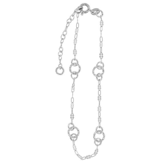 Jouailla - Chaine de cheville argent rhodié 925-1000e
