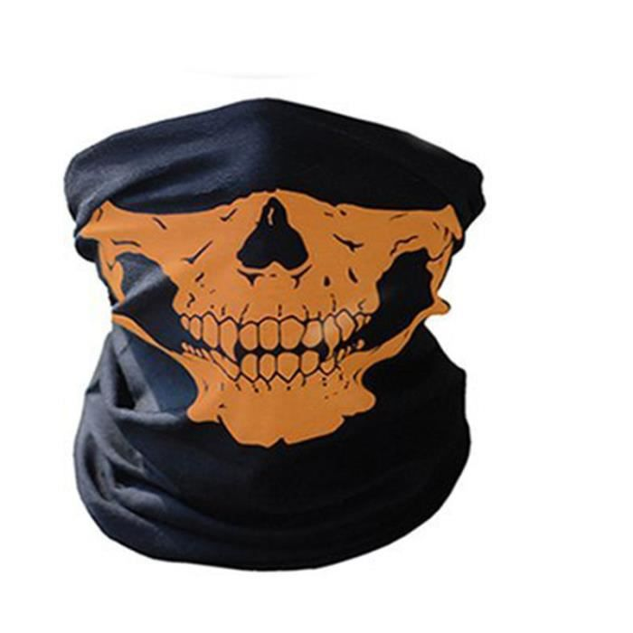 a0fd183e4777 2Pcs Crâne Bandana Bonnet Écharpe Hijab Cape Foulard Vélo Tour de Cou Moto  Casque Cou Col Roulé Sport Halloween Masque Tête de Mort