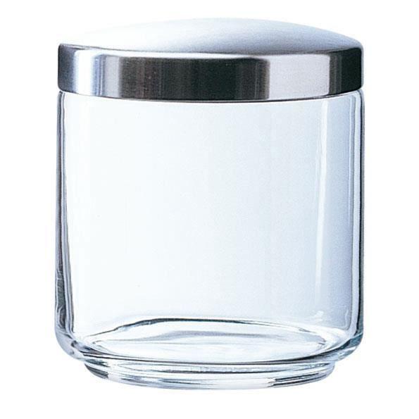 pot de rangement en verre avec couvercle en métal box mania