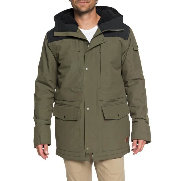 Manteau Quiksilver Canyon Jacket Kaki - Achat   Vente manteau ... ed8530d5cb54