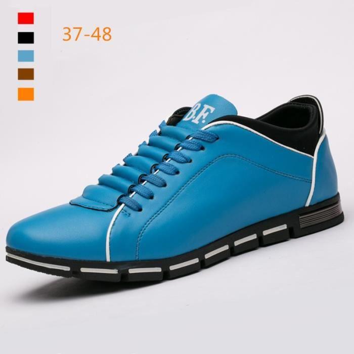 Marque New Style rétro style Chaussures hommes, de haute qualité homme Souliers simple, Derbies Casual Hommes,marron,47