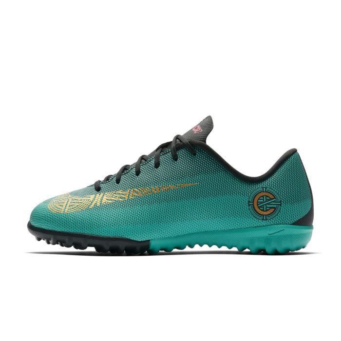 finest selection 09566 2197d Chaussures football Nike MercurialX Vapor XII Academy CR7 TF Vert Junior