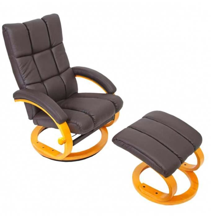 fauteuil relax repose pied achat vente pas cher. Black Bedroom Furniture Sets. Home Design Ideas