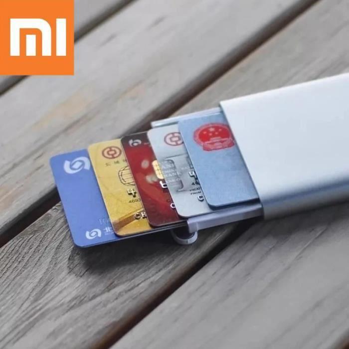 vente chaude en ligne 6e121 4fff5 Xiaomi Automatique Carte Visite Mince en Métal de Crédit Cas de Stockage