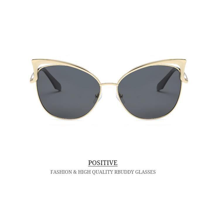 RBUDDY femme lunettes polarisantes 2017 Marque Designer Ladies Lunettes de  soleil en métal ombre Cadre rétro ... cae18518e88