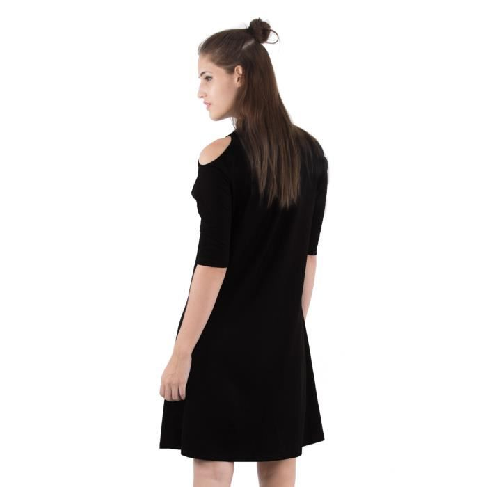 Womens A-line Dress (black) XVIY8 Taille-38