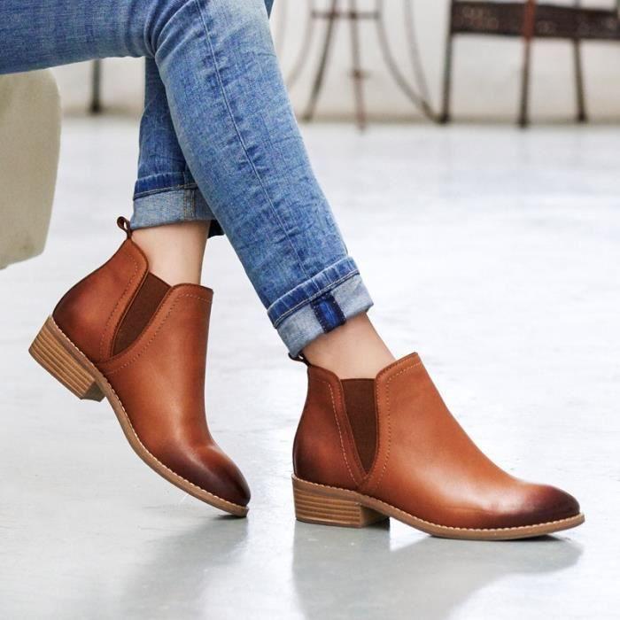chaussures de mode nouvelles dames bottes locomotive britannique Martin chaussures bottes imperméables,noir,38