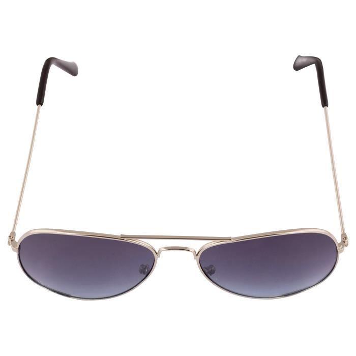 Marque Uv Protected unisexe Lunettes de soleil aviateur pour les garçons filles non polarisants élégant Goggle- (argent Gre N423G