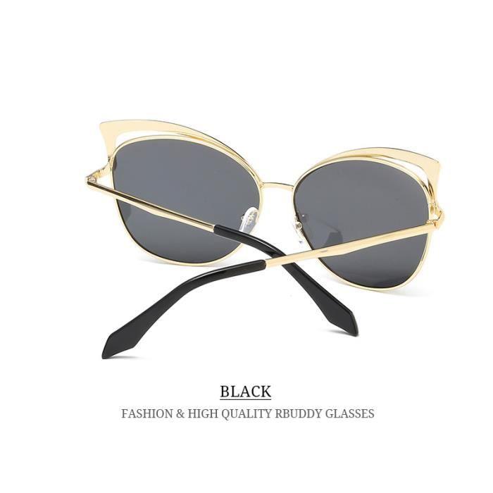 ... RBUDDY femme lunettes polarisantes 2017 Marque Designer Ladies Lunettes  de soleil en métal ombre Cadre rétro 94bde4160c0