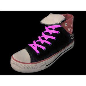 LACET  Paire de lacets roses fluos pour chaussures HA : d