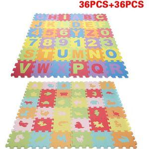 TAPIS PUZZLE 72 Pcs Puzzle tapis mousse alphabet et chiffres +