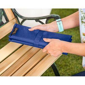COUSSIN - CONFORT Gardenista® Bleu 4 Partie pliante Sit Mat coussin
