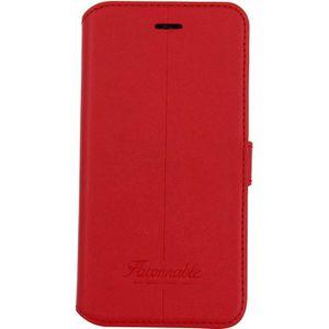 FACONNABLE Etui folio Liseré noir pour iPhone 7 - Rouge - Achat ... 27dc979c99cf