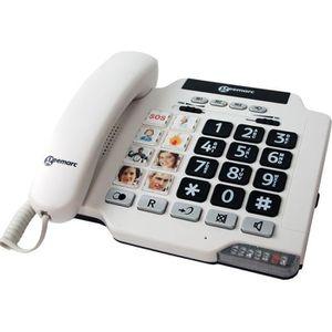 Téléphone fixe GEEMARC Téléphone amplifié grosses touches sénior