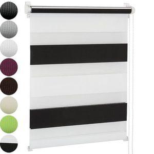 STORE DE FENÊTRE Store Enrouleur- 70x 120 cm- Noir/ Blanc- Luminosi