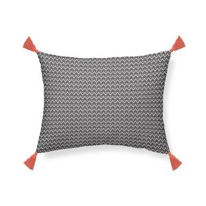 COUSSIN TODAY Coussin pompons Hippie Chic - Motif : zig za