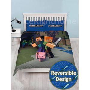 housse de couette minecraft achat vente housse de couette minecraft pas cher soldes d s. Black Bedroom Furniture Sets. Home Design Ideas