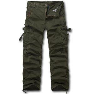 PANTALON Pantalon Cargo Homme Noir Camouflage Automne  M...