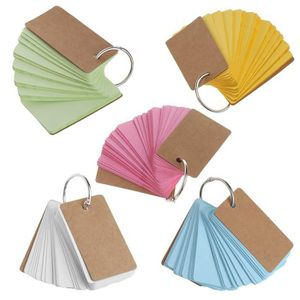 BLOC NOTE Papier Kraft Bague Binder Facile Flip Flash Cartes