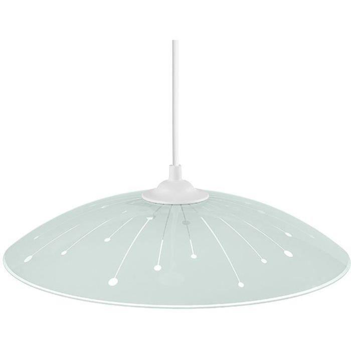 Suspension brillo blanc / transparent Ø30x55h