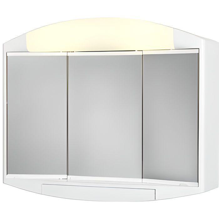 Armoire miroir salle de bain avec eclairage - Achat / Vente ...
