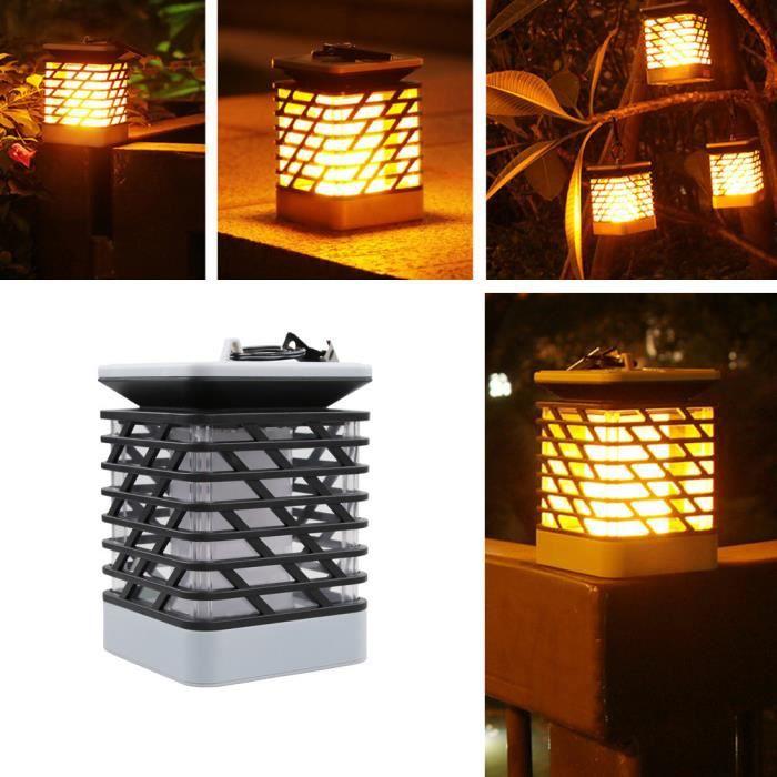 Pilerty®Lampe solaire de pelouse de flamme LED feu lumière réaliste ...