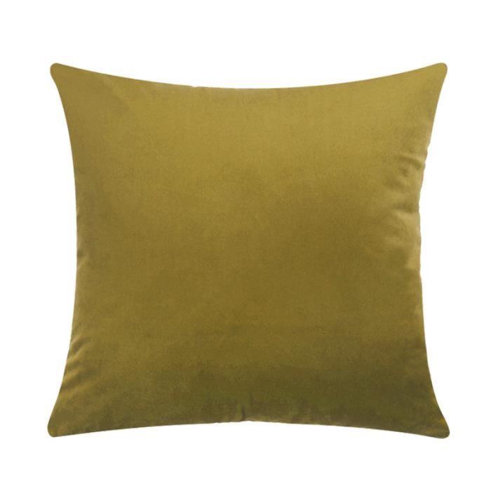 HOUSSE DE COUSSIN Tissu de Velours Coussin Decoratif Couleur Pur de