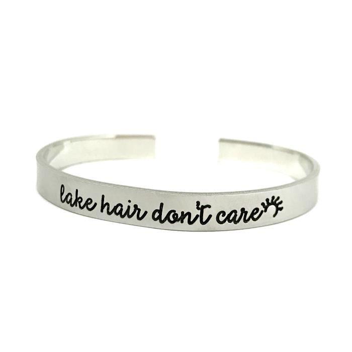 Lac des femmes cheveux Do not Care Bracelet - Bijoux dété - Gros Étain Bracelet - Sta main QST5S