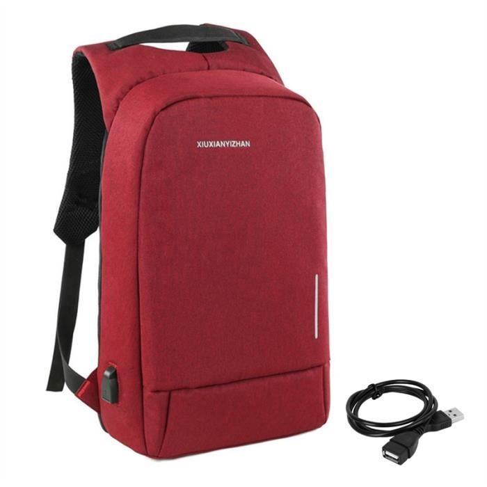 Sac à dos pour ordinateur portable rouge
