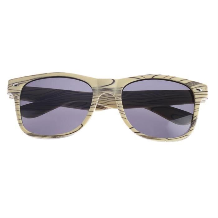 066e6e617b0644 YKS fashion feuille grise BZ046 imitation bois lunettes de soleil cadre  beige