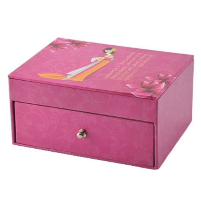 Pratique boîte de boîte de bijoux Bagues Collier Boucles dorganisateur, E