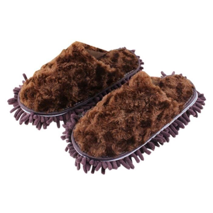 l'hiver Amovible microfibre pantoufles de nettoyage, 25cm/A