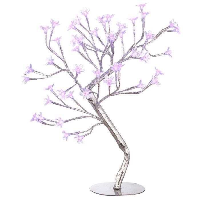 Lampe De Table Del Luminaire Arbre Fleurs Floral Lilas Violet
